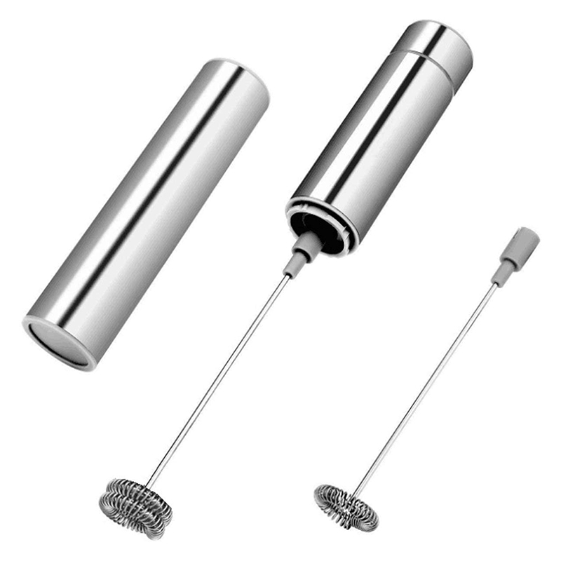 Milk Frother, Mini Blender Mixer Electric Handheld Mixer, Coffee Frother Foam Maker Egg Beater with 2 Stainless Whisks