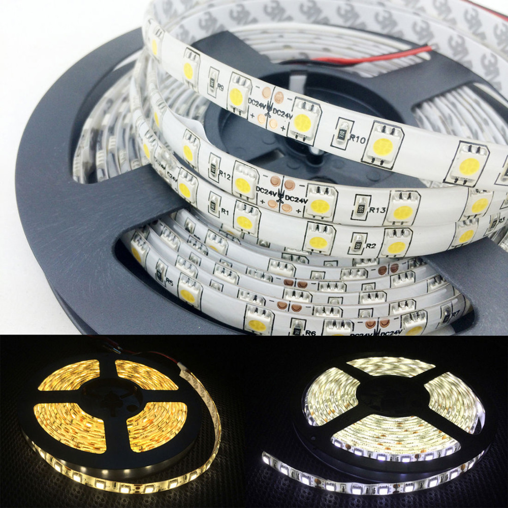 5m/lot LED Strip 5050 60LEDs/m Flexible LED Light White/warm White//bule/red/green  RGB RGBW 5050 LED Strip DC12V
