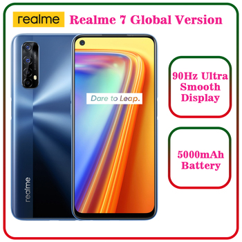 Realme 7 Global Version Cell Phones Unlocked 30W Fast Charge Smartphone 8GB RAM 128GB ROM Mobile Phones Helio G95 Gaming Phone