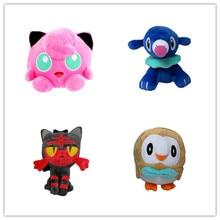 4 шт./компл. плюшевая кукла, чучело солнце», «Луна», Jigglypuff Popplio Литтен Rowlet детские игрушки станет желанным подарком для друзей