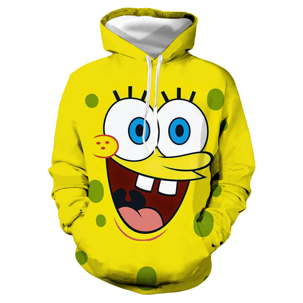 kawaii Spongebob Squarepants 3d Hoodie Bonito Para Homem E Mulher sports Hoodies polyester 3d printing cartoon hoodies