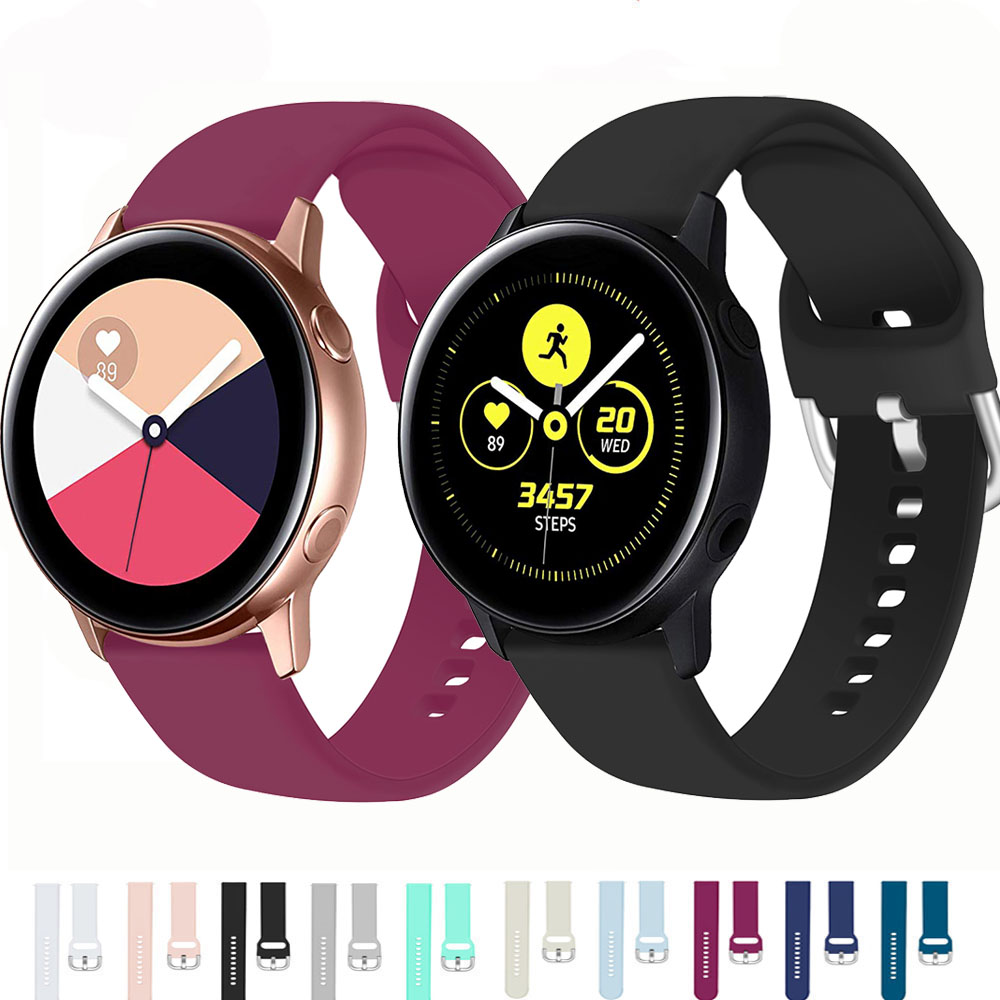 Silicone Pulseira Strap For Samsung Galaxy Watch 46mm Gear S3 S2 Huawei Watch Gt 20/22mm Galaxy Watch Active Watchbands