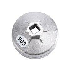 Алюминиевый ключ для масляного фильтра 74 мм 14, инструмент для удаления торцевых ключей для BMW, AUDI, Benz, ключ для масляного фильтра, автоматический инструмент