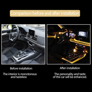 Image 4 - Светильник для салона автомобиля, с приложением для управления звуком, RGB режим, цветное автоматическое украшение, полосы для комнатных ламп, универсальные 2 м/4 м/6 м