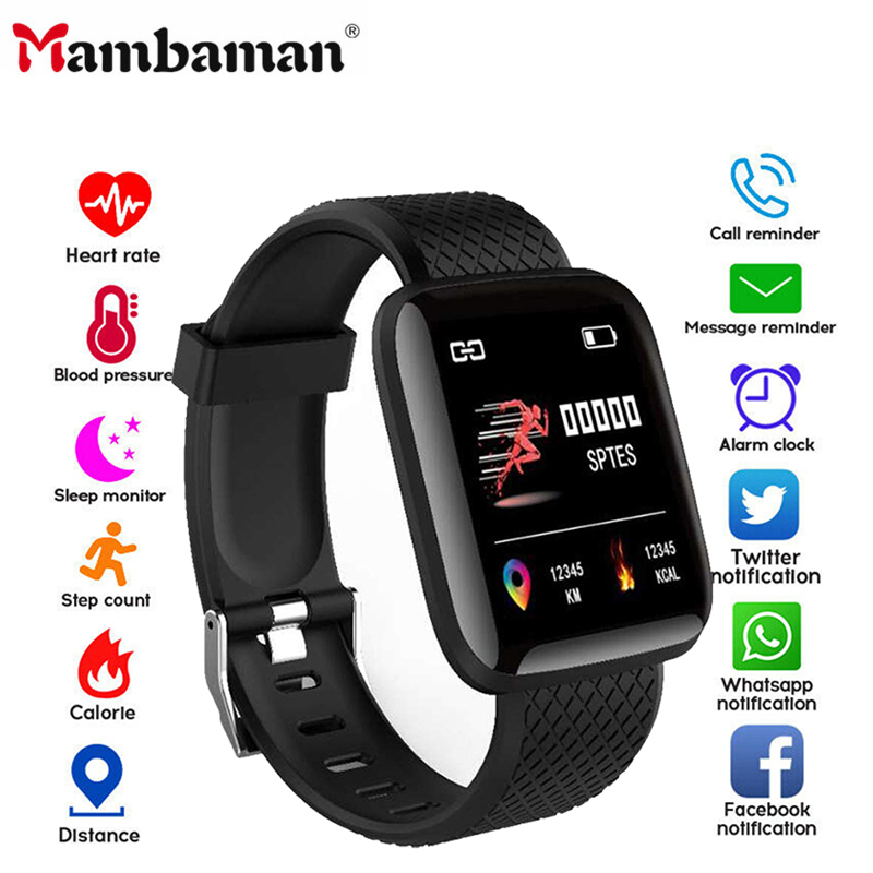 D13 Smart Watch Women Men 2020 Heart Rate Smartwatch Wristband Sports Watches 116 Plus Band Waterproof Smartwatch Android A2 B57
