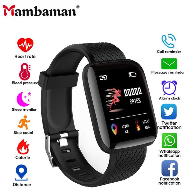 D13 Smart Watch Women Men 2020 Heart Rate Smartwatch Wristband Sports Watches 116 Plus Band Waterproof Smartwatch Android A2 B57
