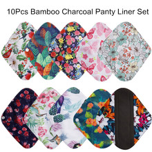 Bamboo-Charcoal-Pads Panty-Liner Reusable-Pads Washable Cotton-Pads Maternity-Menstrual