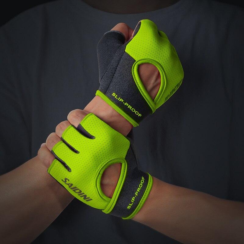 Fitness Gloves Men And Women Dumbbell Apparatus Horizontal Bar Chin-up Exercise Bracer Training Half Finger Bicycle Anti-slip Sp