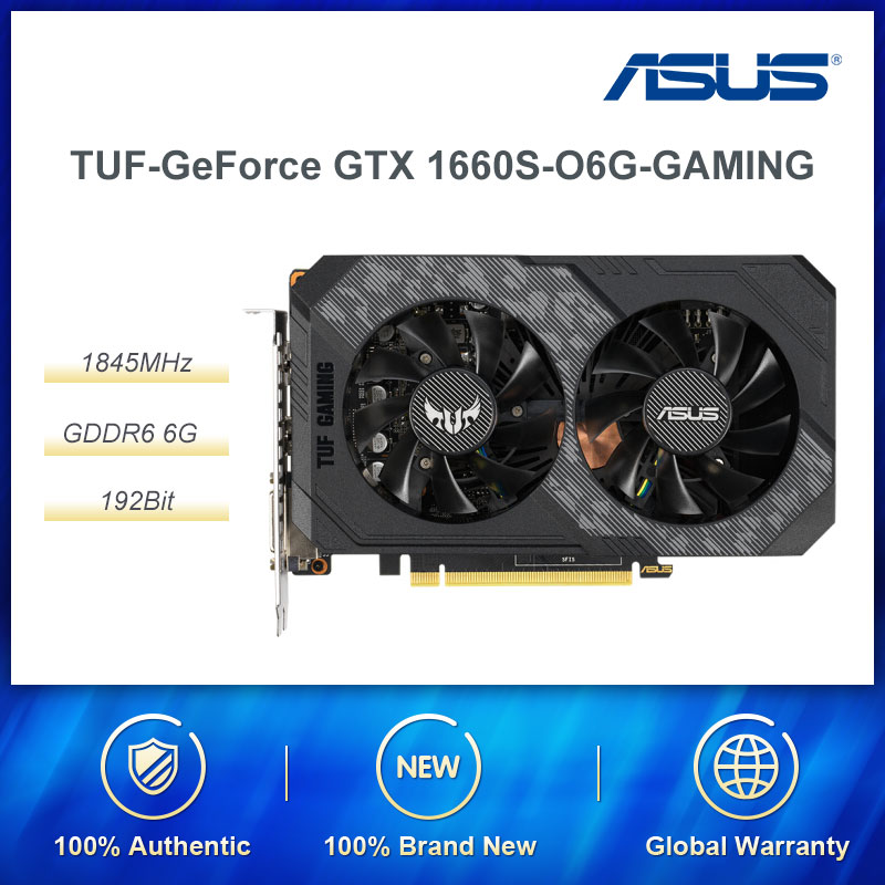 ASUS NVIDIA GeForce GTX 1660 Super Gaming TUF 6GB GDDR6 Gaming Graphics Card with Dual Fan Gaming Video Cards image