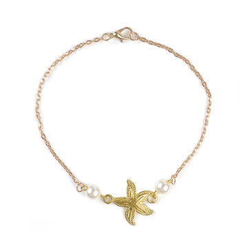 2020 Bohemian Sandals Foot Jewelry Charms Chain Ankle Bracelet Female gold starfish Anklets Bracelets for Women Barefoot