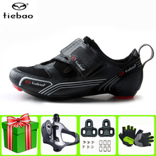 Tiebao Road Cycling Shoes Sapatilha Ciclismo Add Pedal Set Black Unisex Bike Lightweight Breathable Athletic Men Sneakers Women