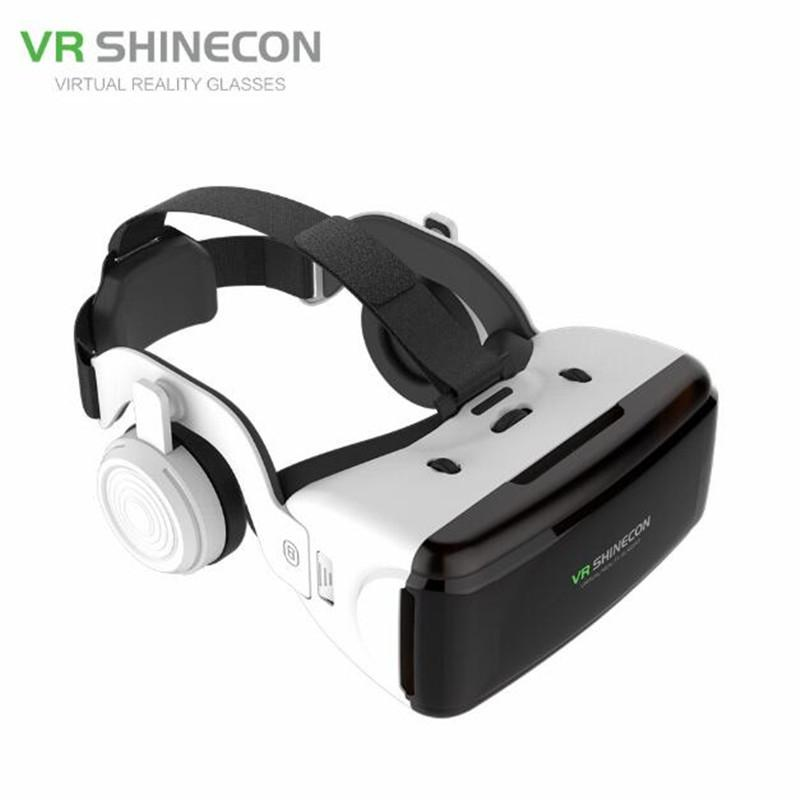 VR Virtual Reality 3D Glasses Box Stereo For Google Cardboard Headset Helmet for IOS Android Smartphone Bluetooth Rocker image
