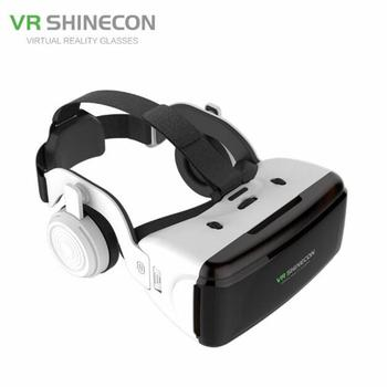 VR Realidad Virtual 3D gafas caja estéreo para cartón Google casco auricular para IOS Android Smartphone Bluetooth basculante