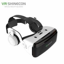 цена на VR Virtual Reality 3D Glasses Box Stereo For Google Cardboard Headset Helmet for IOS Android Smartphone Bluetooth Rocker