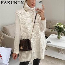 Зимний женский свитер fakuntn пуловер 2021 модная зимняя одежда