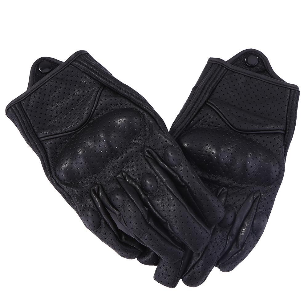Gants de Moto en cuir véritable écran tactile Motocross vélo gant de cyclisme doigt complet Guantes Moto Invierno Luva Motociclista