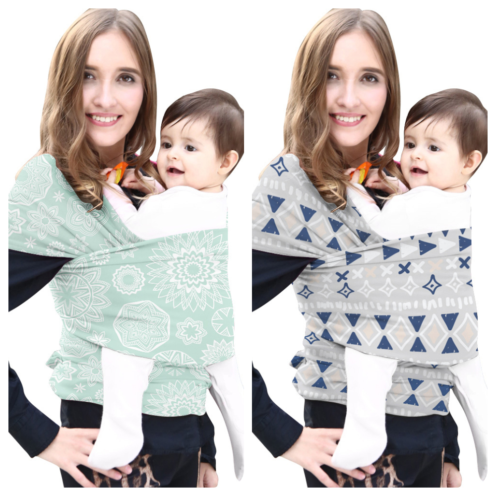Baby Sling Printed Multi-functional Baby Bib Multi-Color Infant Baby Carrier Handsfree Sling Newborn Baby Double Shoulder Strap