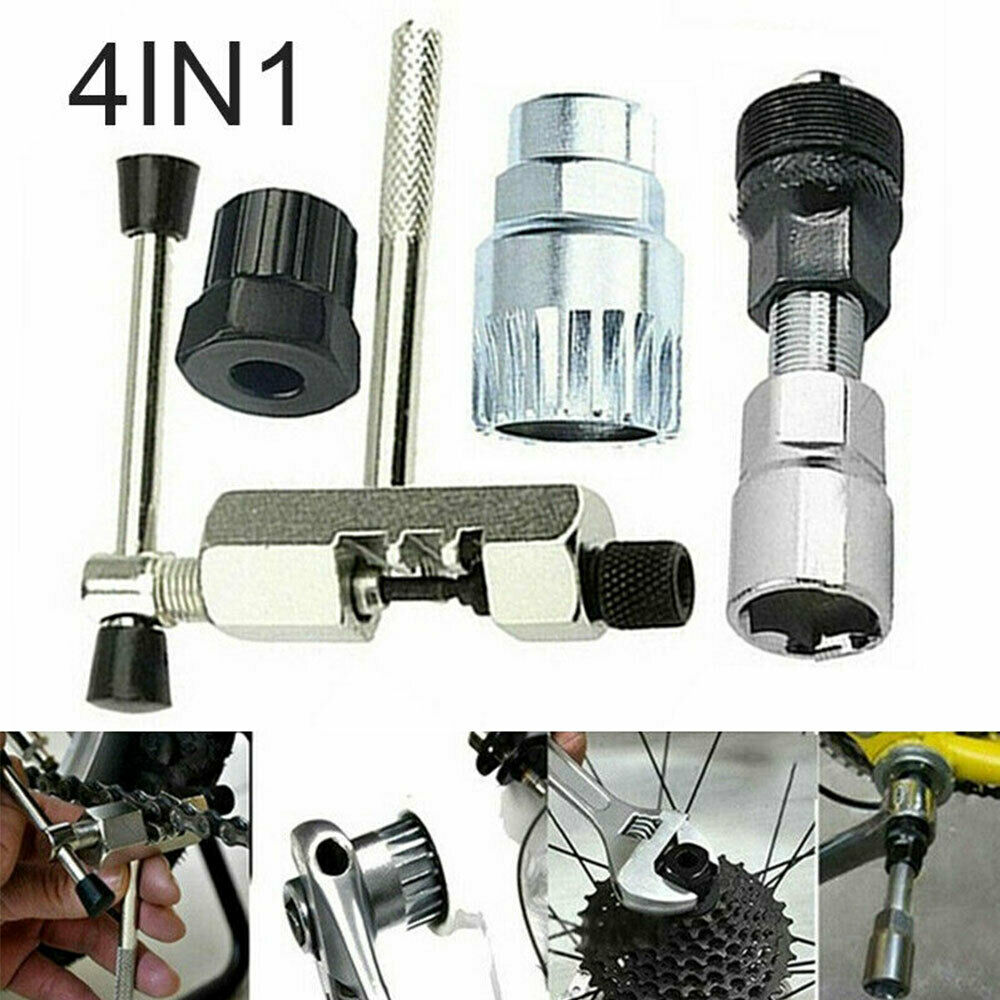 4 in 1 Mountain Bicycle Crank Chain Shaft Extractor Easy to Use Disassembly Maintenance Tool Accessories