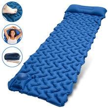 Надувной воздушный матрас geertop для сна в палатке с насосом