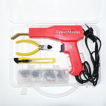 Práctico soldador de plástico, herramientas de garaje, grapadora en caliente, máquina de reparación de plástico de PVC, grapadora en caliente para reparación de parachoques de coche