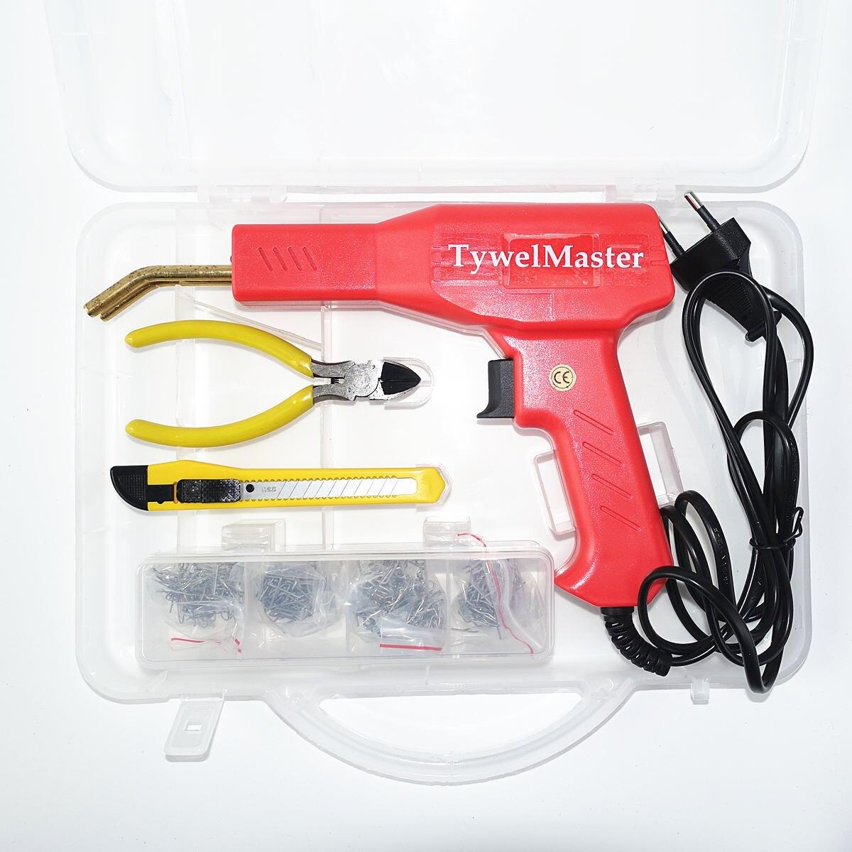 Prático plástico soldador ferramentas de garagem quente grampeadores máquina de grampear pvc plástico reparação máquina carro pára-choques reparação quente grampeador