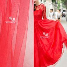 Мягкий кружевной тюль ткань красный diy шарф вуаль цветок фон