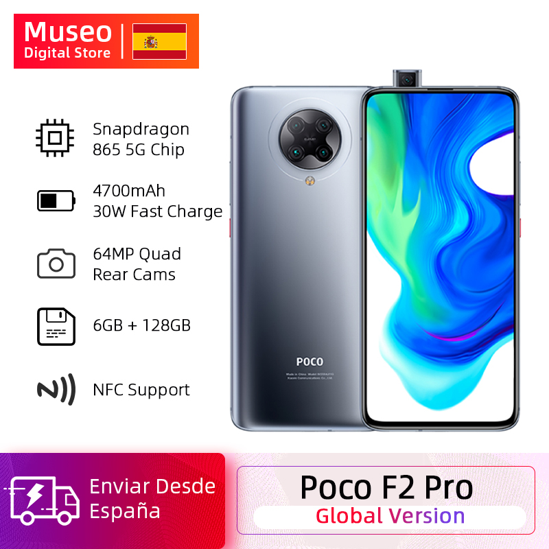 "Global Version Xiaomi POCO F2 Pro Smartphone 6GB 128GB Snapdragon 865 5G 64MP Quad Cam 6.67"" Mobile Phone 4700mAh 30W"