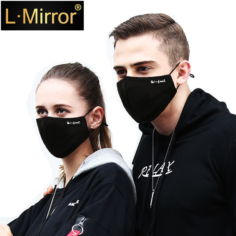L.Mirror 1Pcs Dust Mask Activated Carbon Filter Insert Anti Pollution Cotton Face Mouth  PM2.5  Exhaust Gas Pollen Allergy