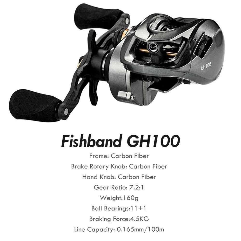 2019 겨울 Fishband Baitcasting 릴 Gh100 Gh150 7.2: 1 잉어 미끼 캐스팅 릴 낚시 퍼치 tilapia베이스 낚시 태클