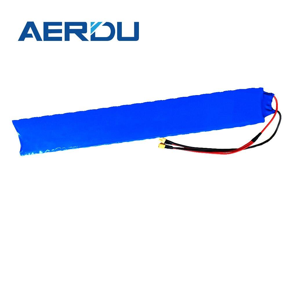 Aerdu 36v 10s2p 7ah embutido 15a bms com suporte 18650 bateria de íon de lítio baterias estendidas para m365 pro scooter elétrico