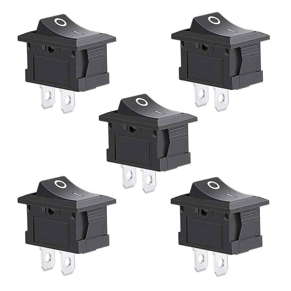 5 stuks 2 Pin Snap-in Op/off Positie Snap Boot Rocker Switch 12 v/110 v /250v Ot8g