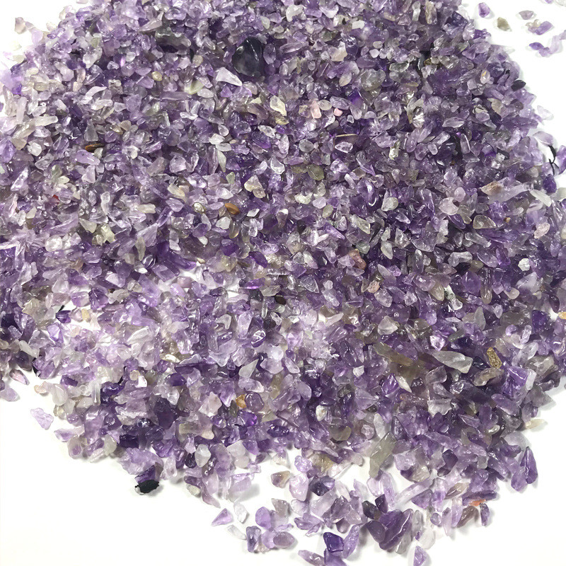 100g 2-5mm Natural Amethysts Powder Crystal Gravel Rock Raw Gem Stone Mineral Fish Tank Bonsai Decoration Energy Stone