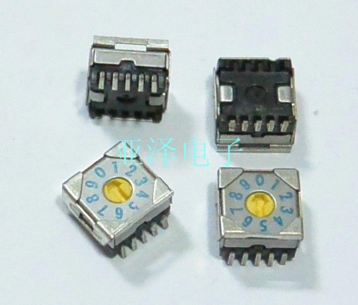 5 шт./лот 0-9/10 бит 7,5x7,5 поворотный кодовый переключатель SMRR7010-1
