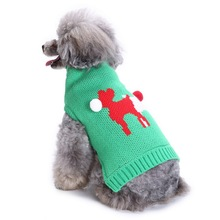Pet dog sweater autumn and winter two-color pet coat warm clothes Christmas striped T-shirt