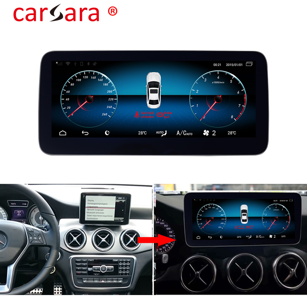 Carsara  A45 AMG W176 Android 9.0  Touch Screen Multimedia For Mercede GLA  X156  CLA W117 A Class  Navigation Tablet 2013-2018