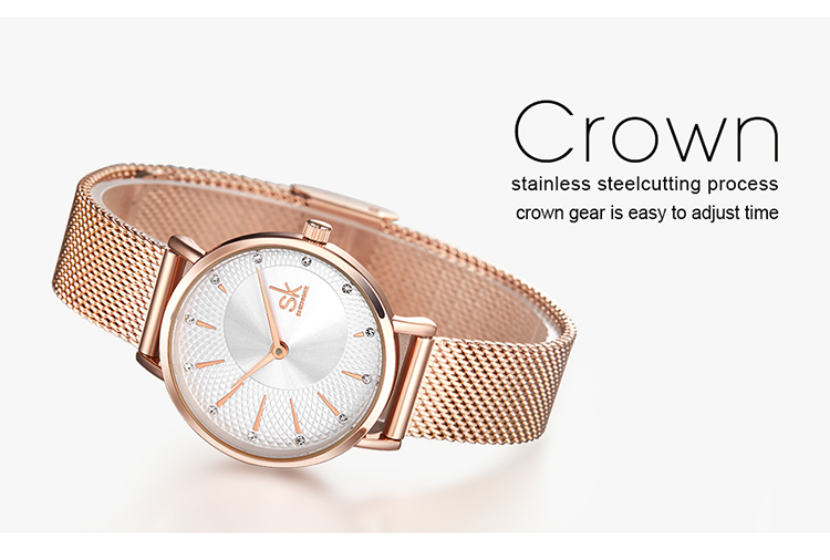 Shengke novos relógios femininos criativos de luxo