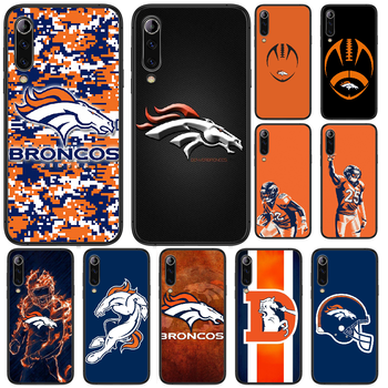 Rugby Denver Bronco Football Phone case For Xiaomi Mi 6 8 A1 Note3 A2 9 CC9 9T A3 MIX 2 2S 3 9 Lite SE Pro black coque trend image