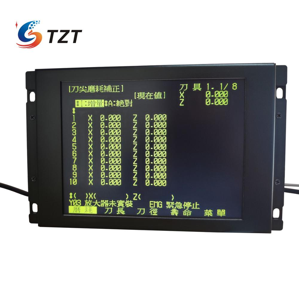 TZT Replacement LCD Panel For Mitsubishi MDT962B-1A BM09DF MDT962B M64 E60 CNC CRT Monitor + Upgrading Button
