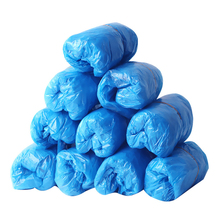 reusable step in sock portable auto package overshoes waterproof shoe covers shoe boot cover automatic 100Pcs Disposable Shoe Cover Waterproof Boot Covers Plastic Disposable Shoe Covers Overshoes Rain Shoe Covers Mud-proof Blue