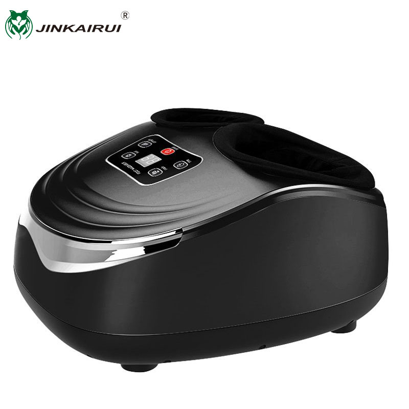Jinkairui EU Plug Electric Antistress Foot Massager Vibrator Massage Machine Infrared Heating Therapy Health Care Device