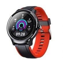 Ip68 relógio inteligente tela à prova dip68 água monitor de freqüência cardíaca pressão arterial smartwatch esportes fitness rastreador monitor sono pedômetro