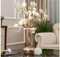 Бесплатная доставка  Европейский Цветочный Кристалл  настольная лампа D45cm  скандинавский K9  настольная лампа  лампы для гостиной  освещение ...