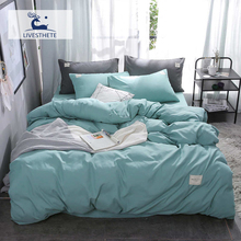 Liv-Esthete New Luxury Green Bedding Set Soft Home Duvet Cover Flat Sheet Double Queen King Adult Bed Linen As Gift