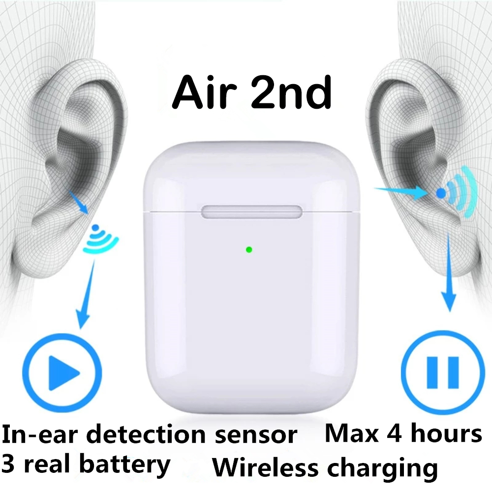 I.TBULL air 2 Bluetooth Earphone Wireless earphones Touch control Earbud Change Name GPS  rename  for Android iPhone 1:1 airpods
