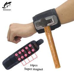 Наручные Поддержка Сильный магнитный для винт ногтей держатель браслет группа инструмент сумка для браслетов сумка шуруповерты держатель
