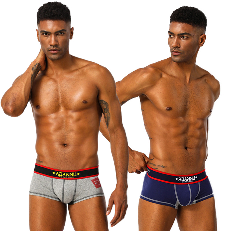 2020 New Boxer Mens Underwear Men Cotton Underpants Male Pure Men Panties Shorts Underwear Boxer Shorts Solid