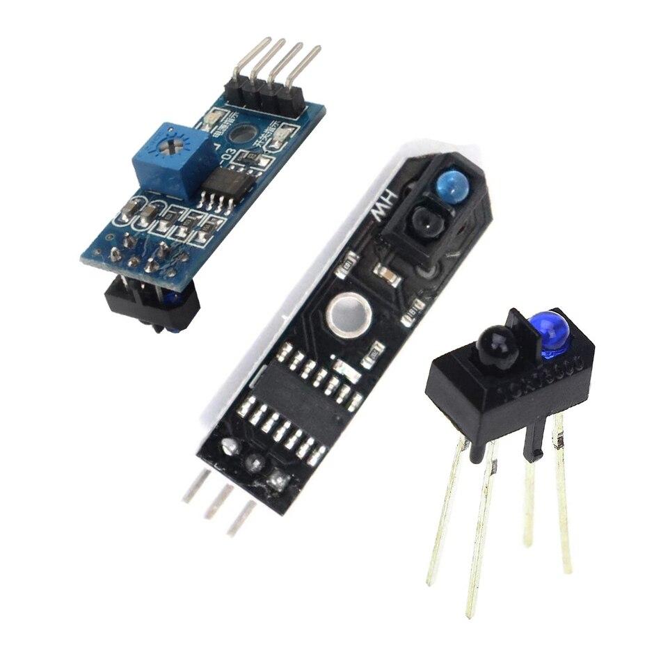 1 pces tcrt5000 infravermelho sensor reflexivo ir interruptor fotoelétrico barreira linha módulo trilha para arduino diode triode placa 3.3v