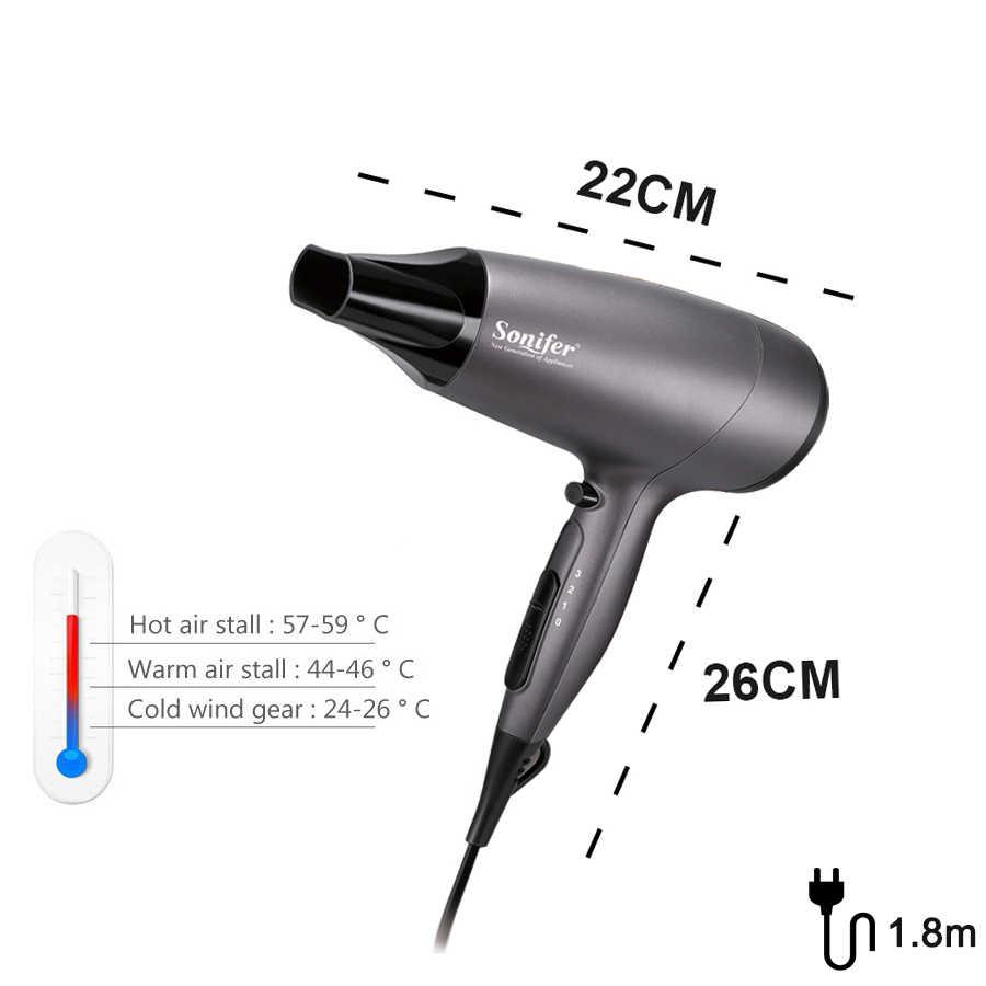 2000W Profi-haartrockner Pinsel für Friseur Barber Salon Werkzeuge Elektrische Niedrigen Schlag Trockner Wind Salon Ausrüstung Sonifer