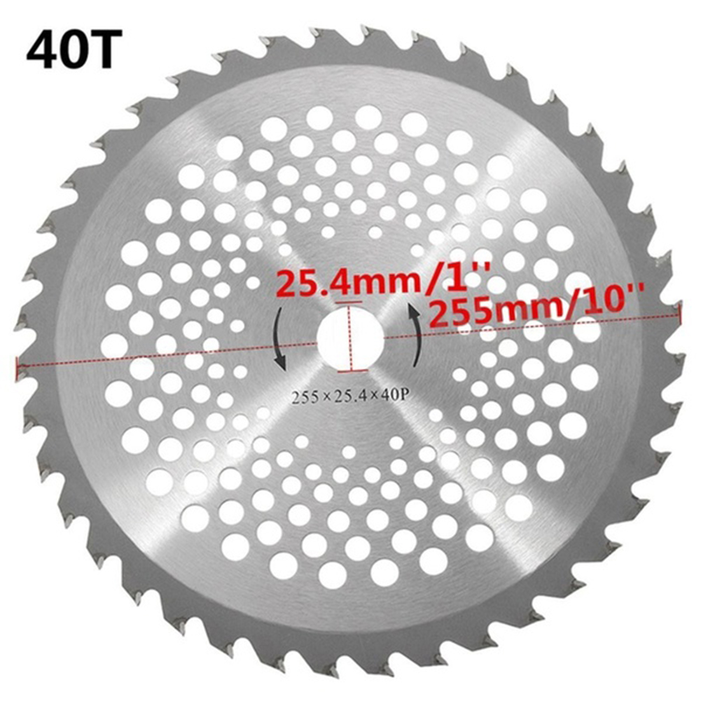 High Quality Circular Saw Blade Rotary 10'' 40 Teeth Bore Dia. 25.4mm Carbide Tip Blade For Brush Cutter Trimmer