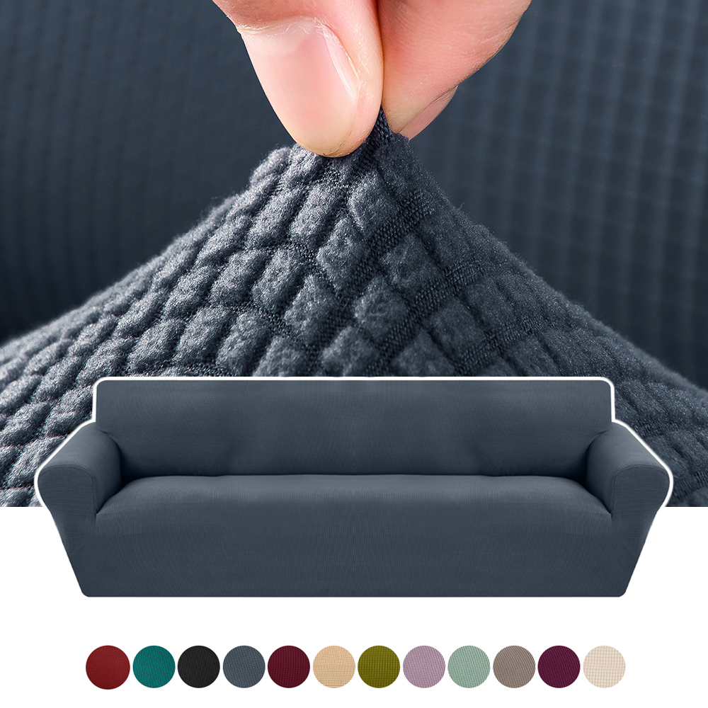 1/2/3/4 Seaters  Elastic Universal Sofa Cover Knitted Thicken Stretch Slipcovers For Living Room Couch Cover Armchair Cover